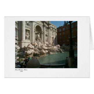 Tarjeta Trevi, fuente del Trevi - Roma 1762
