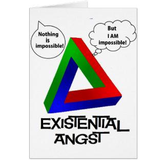 Tarjeta Triángulo de Penrose - nada es imposible