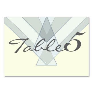 Tarjeta tribal bohemia del número de la tabla del