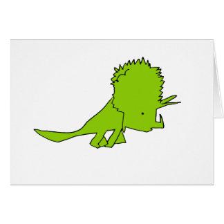 Tarjeta Triceratops