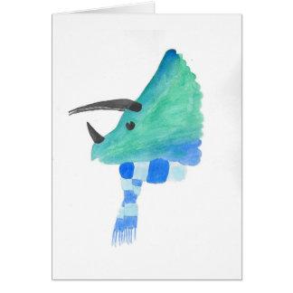 Tarjeta Triceratops en una bufanda