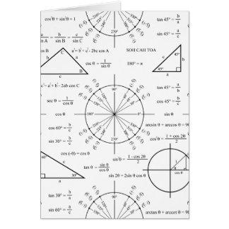 Tarjeta Trig y triángulos