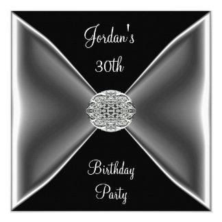 Tarjeta Trigésima fiesta de cumpleaños de la joya de plata