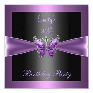 Tarjeta Trigésima fiesta de cumpleaños de la mariposa