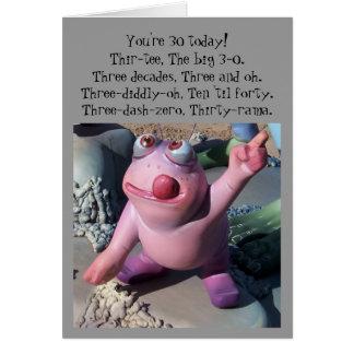 Tarjeta Trigésimo cumpleaños chistoso