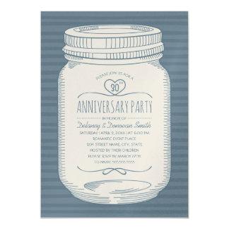 Tarjeta Trigésimo tarro de albañil del aniversario de boda