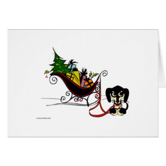 Tarjeta Trineo del navidad