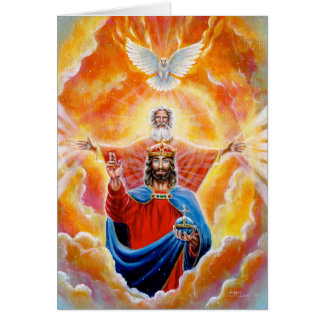Tarjeta Trinidad santa en gloria