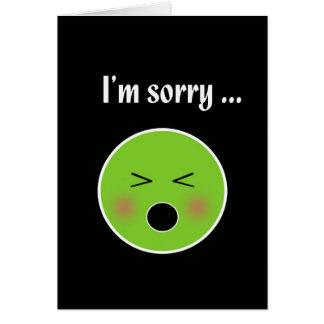 Tarjeta Triste para vomitar--tarjeta chistosa de la