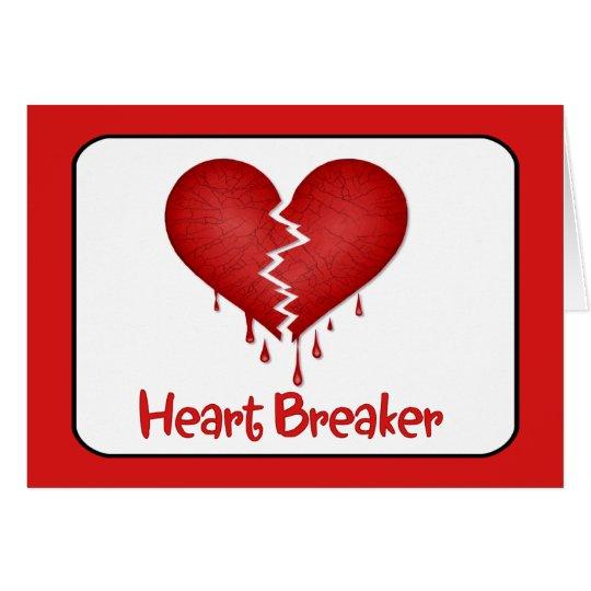 Tarjeta Triturador del corazón con el texto