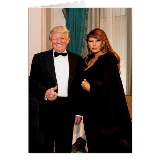 Tarjeta Triunfo de Donald y de Melania