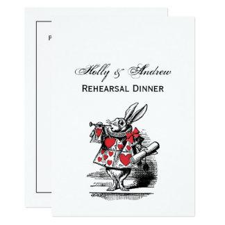 Tarjeta Trompetista blanco Alicia de la corte del conejo