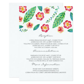 Tarjeta tropical de la huésped de la información invitación 11,4 x 15,8 cm