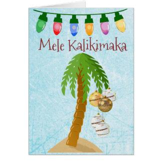 Tarjeta tropical de la palmera del navidad de Mele