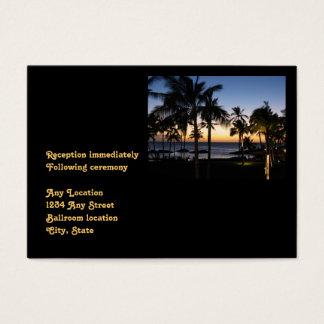 Tarjeta tropical de la recepción nupcial del