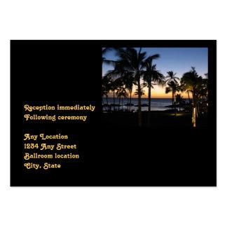 Tarjeta tropical de la recepción nupcial del desti tarjetas de visita grandes
