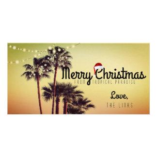 Tarjeta tropical del día de fiesta del navidad