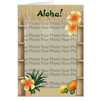 Tarjeta tropical hawaiana del marco de la foto de