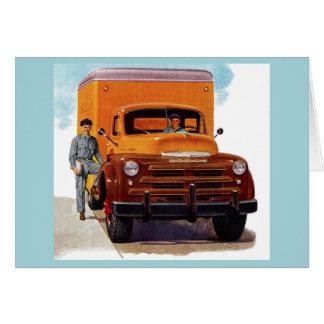 Tarjeta truckin de los camioneros del camión