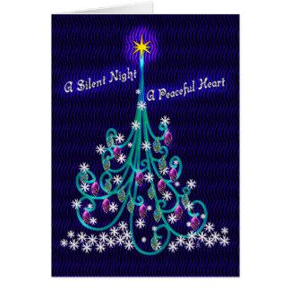 Tarjeta Trullo y árbol violeta (tarjeta personalizada de