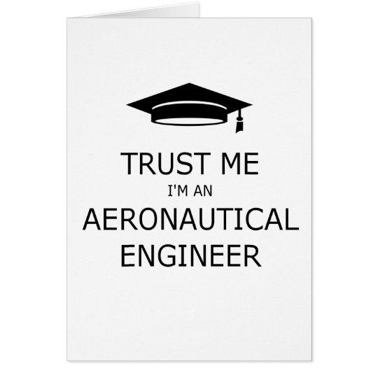 Tarjeta Trust me I'm an aeronautical engineer
