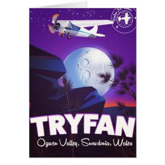 Tarjeta Tryfan, valle de Ogwen, Snowdonia, País de Gales