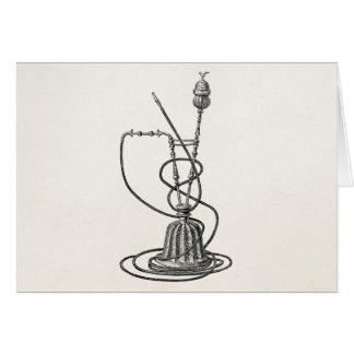 Tarjeta Tubos de tabaco del vintage y ejemplo de la