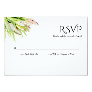 Tarjeta Tulipán, acuarela, casando el rsvp