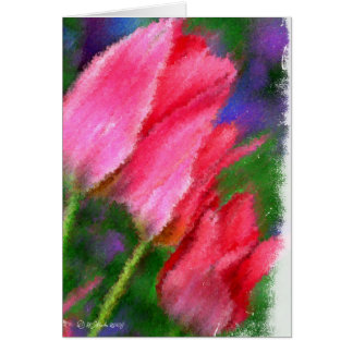 Tarjeta Tulipán-Tarjeta tres