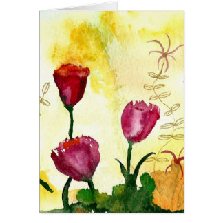 Tarjeta Tulipanes