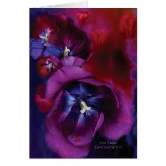 Tarjeta Tulipanes ArtCard del amor