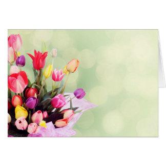 Tarjeta Tulipanes hermosos