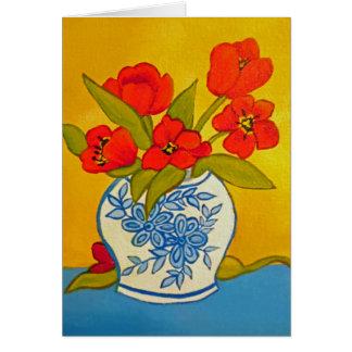 Tarjeta Tulipanes rojos