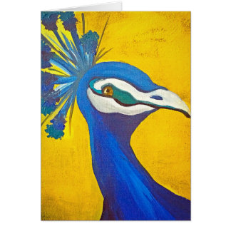 Tarjeta Turquesa y pavo real amarillo