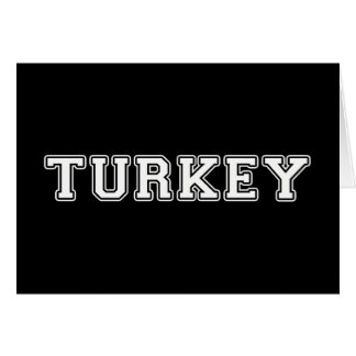 Tarjeta Turquía