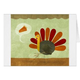 Tarjeta Turquía y empanada en acción de gracias