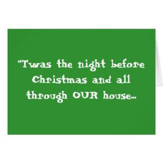 """Tarjeta """"Twas la noche antes del navidad… - modificado"""