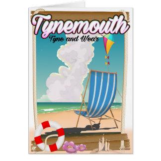 Tarjeta Tynemouth Tyne y desgaste, poster del viaje