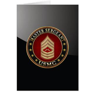 Tarjeta U.S. Infantes de marina: Sargento mayor (USMC