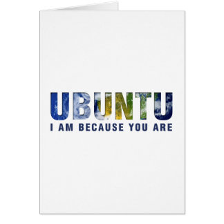 Tarjeta Ubuntu - soy porque usted es