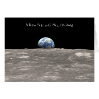 Tarjeta Un Año Nuevo con nuevos descubrimientos: