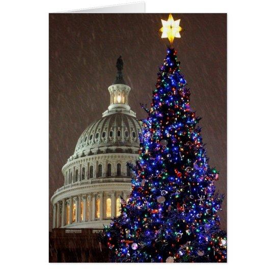 Tarjeta Un árbol de navidad del capitolio de los E.E.U.U.