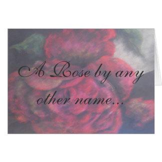 Tarjeta - un color de rosa…