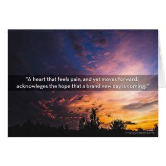 Tarjeta Un corazón que mueve adelante condolencia del