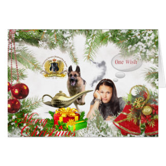 Tarjeta Un deseo - navidad del pastor alemán