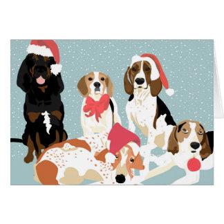 Tarjeta Un día de fiesta del Coonhound (espacio en blanco