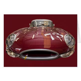 Tarjeta Un E-Tipo clásico de Jaguar a partir de 1961