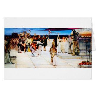Tarjeta Un esmero al Bacchus de sir Lorenzo Alma Tadem
