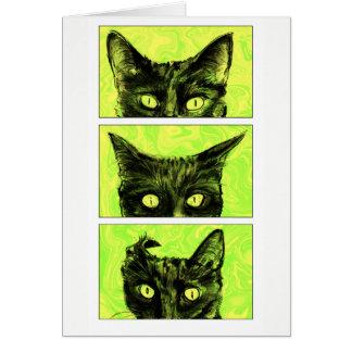 Tarjeta Un estudio de los oídos de gato