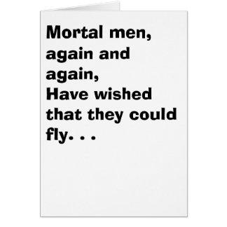 Tarjeta Un hombre y una mosca